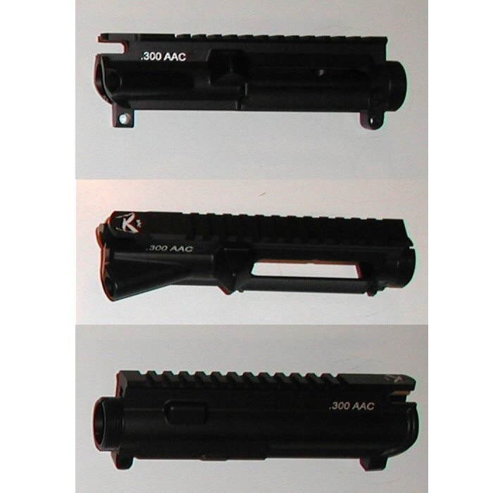 300 Blackout ( 300 AAC) Laser Etched Stripped Upper Receiver